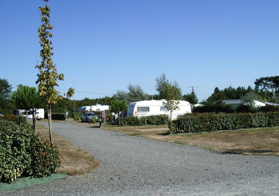 Les emplacement du camping